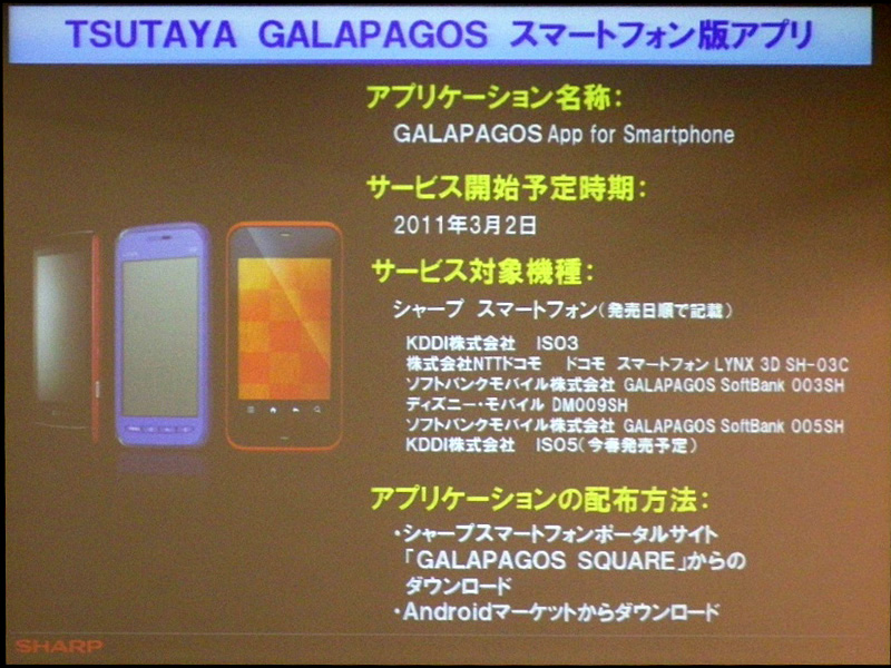 GALAPAGOS App for Smartphoneの概要