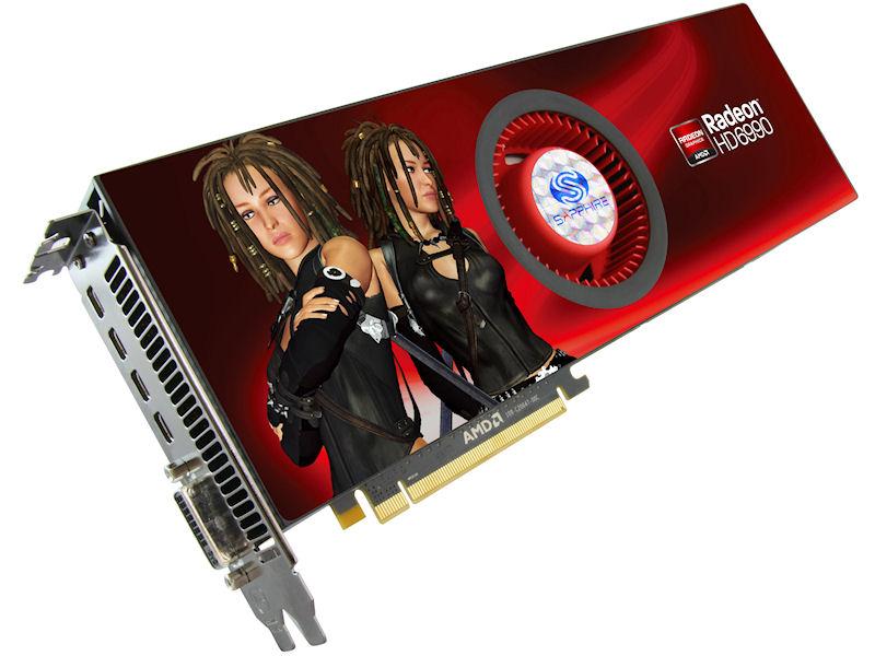 「HD6990 4G GDDR5 PCI-E DVI-I/QUAD MINI DP」