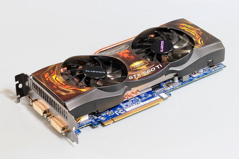 """【写真8】GeForce GTX 560 Tiを搭載する「<a href=""""http://www.gigabyte.jp/products/product-page.aspx?pid=3729"""">GV-N560SO-1GI</a>」"""