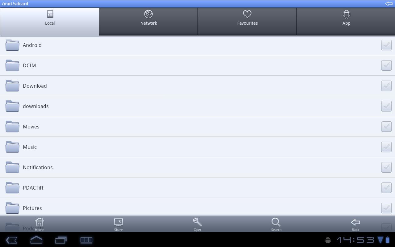 File Expertというファイルマネージャ。この種類のアプリは数多くあり、好みのものを選べる