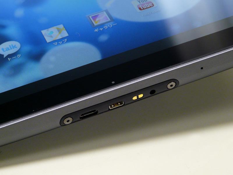 コネクタ部。左からmicro USB、micro HDMI、電源コネクタ