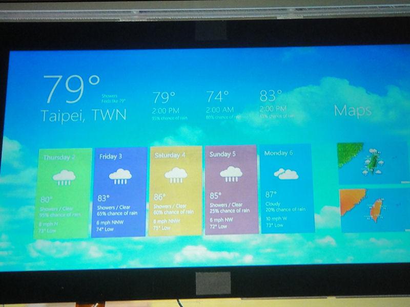 天気予報のTailoredアプリ。背景の雲は滑らかかつ、ダイナミックにアニメーションしていた