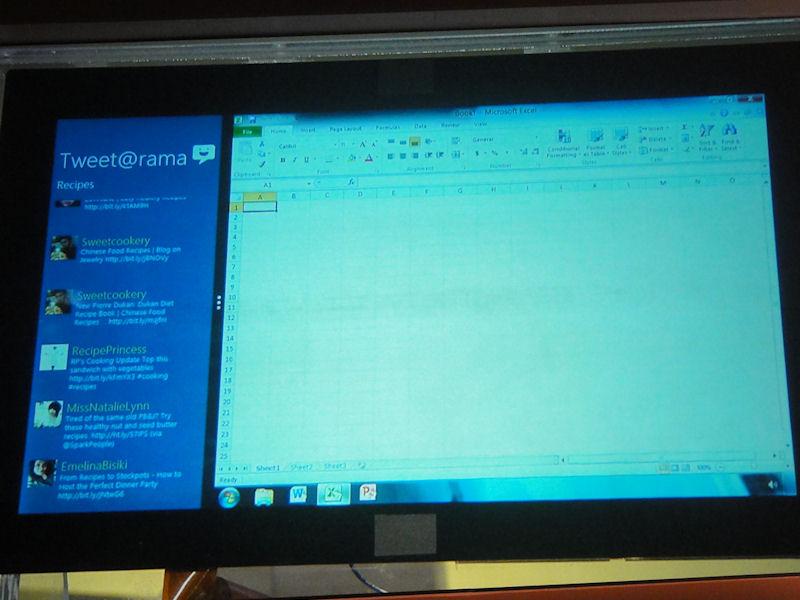 Windows UIとタイルUIの同時表示もできる