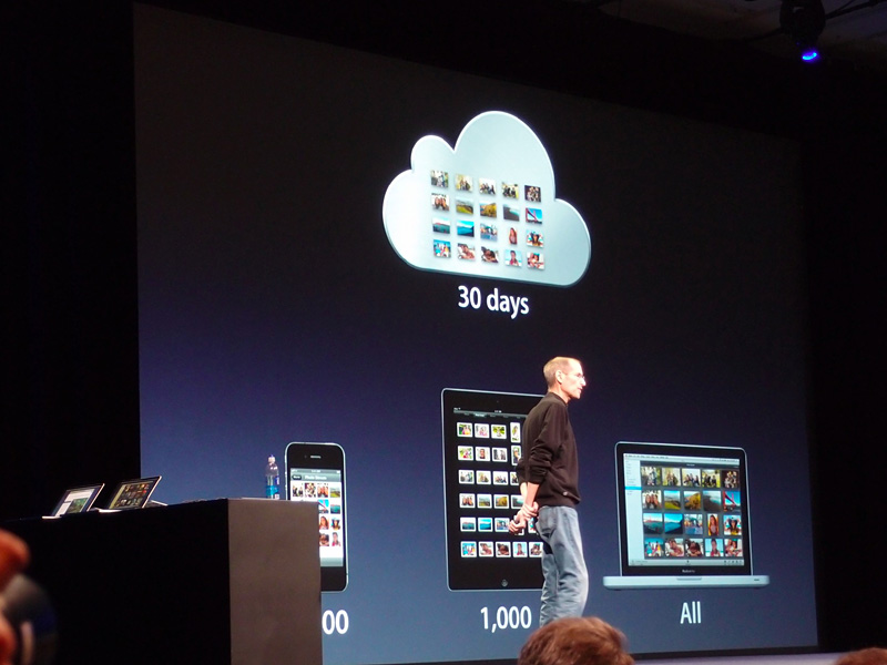 写真はクラウド上に30日分、iOSデバイス上に直近の1,000枚が保持される