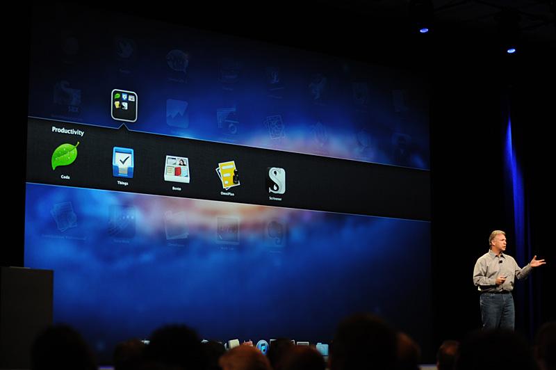 LounchPadの一覧では、ユーザーによるフォルダ管理も可能