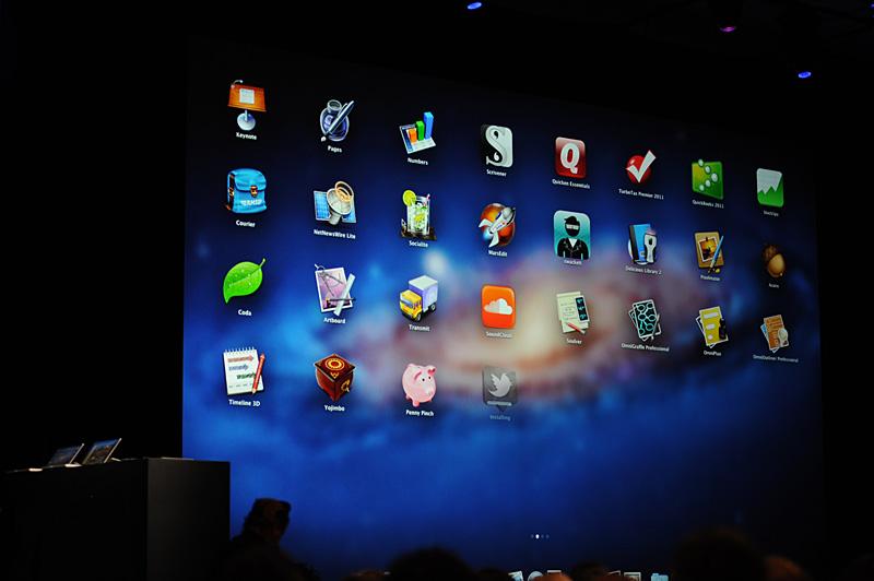LounchPad。iPadのように、Mac内のアプリケーションが一覧される