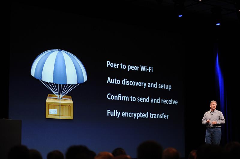 AirDropが可能なユーザーの発見や、セットアップも自動で行なわれる