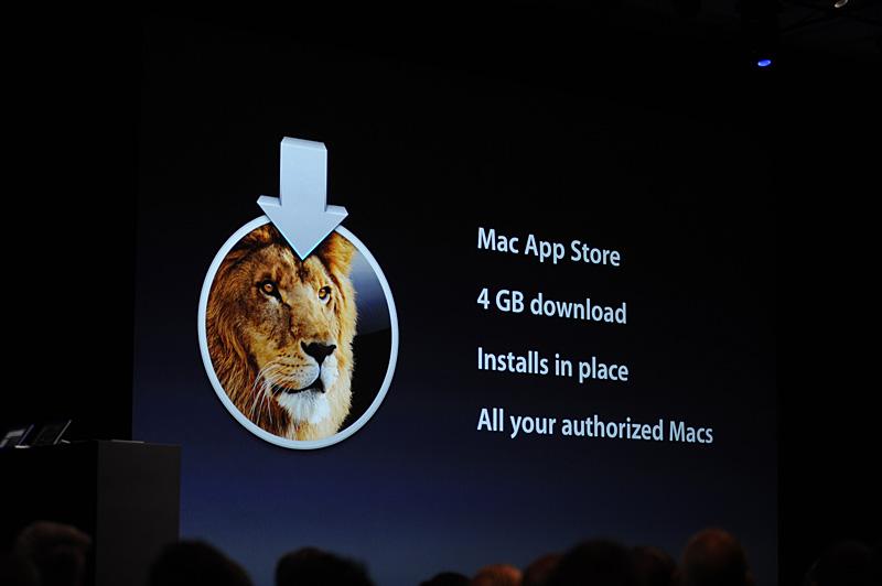 ダウンロード容量は4GB。インストールに際しては再起動ではなく、Snow Leopardの起動状態から行なえる。ライセンスはApple IDをもとに個人が所有するすべてのMacで利用できるマルチライセンス