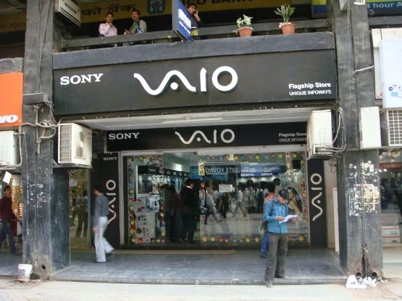 インドのVAIO Shop。2011年は前年比3倍にまで増やしていくという(写真はソニー提供)