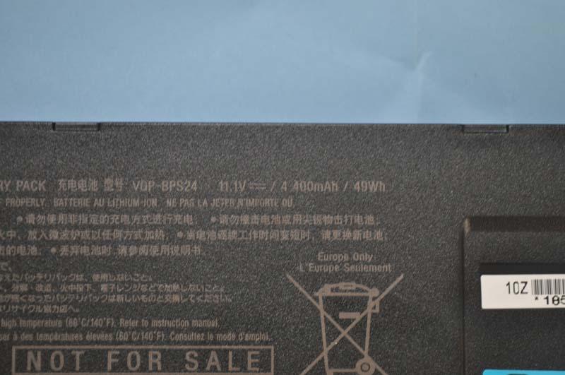 標準バッテリの仕様は11.1V/4,400mAhである
