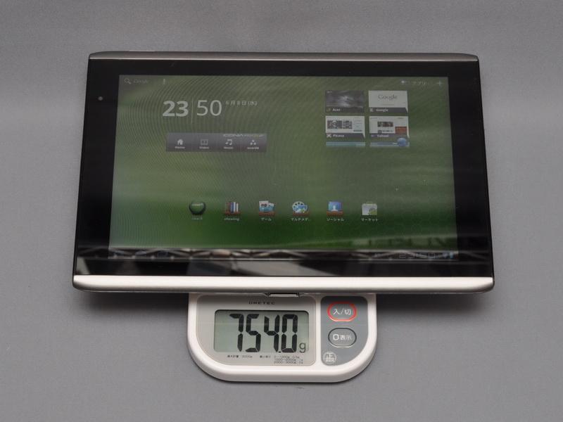 本体重量は、実測で754gと、XOOMより若干重い