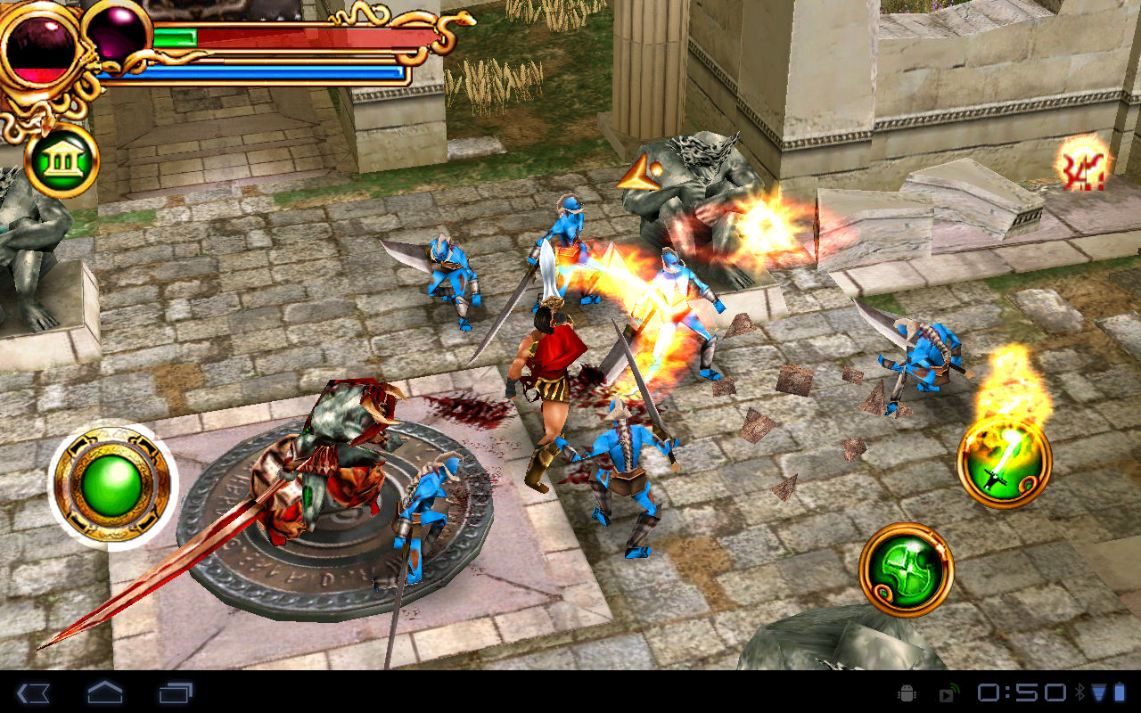 Tegra 2に最適化されたゲームソフトも数本プリインストールされている
