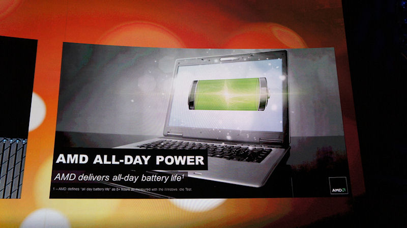 Aシリーズ搭載ノートブックPCは充電なしに8時間以上使うことができる
