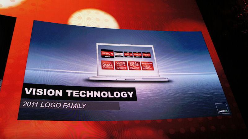 2011年製品向けのロゴプログラムでは、Visionロゴの上部にA8などの製品名が入る
