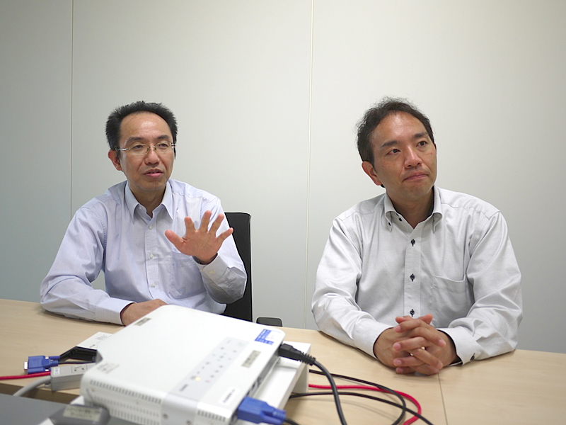 左が清水氏、右が砥石氏