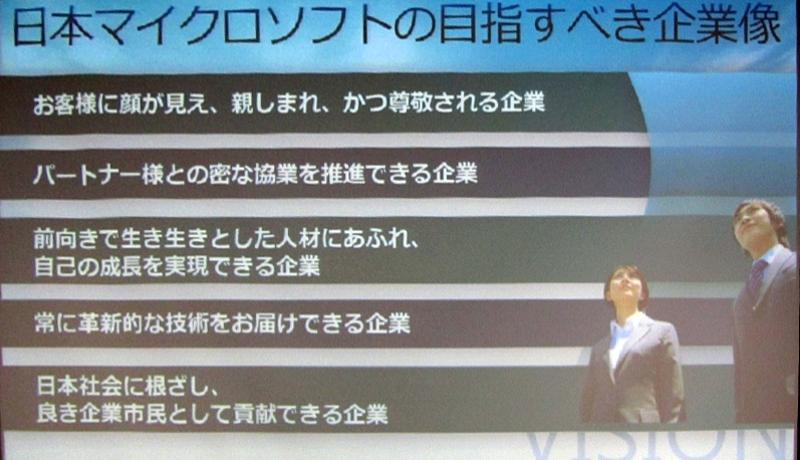 日本マイクロソフトの目標