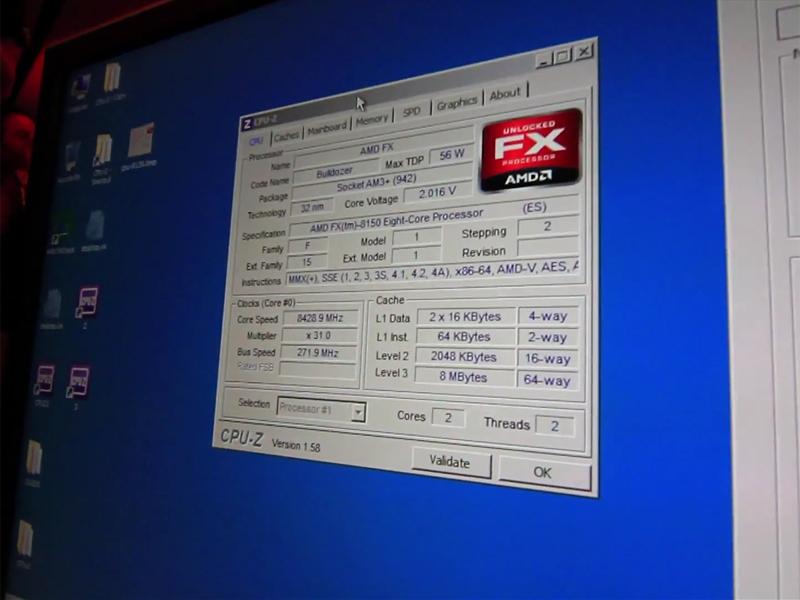 8.429GHzを達成したAMD FX