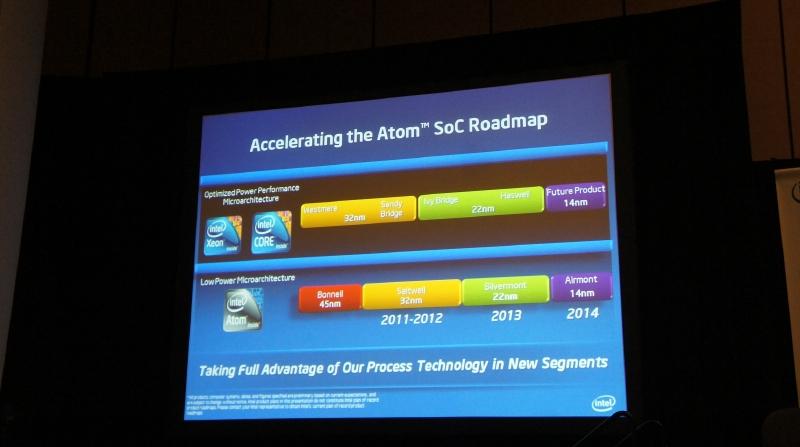 Atomプロセッサ向けのコアは来年以降、1製品ずつ投入される