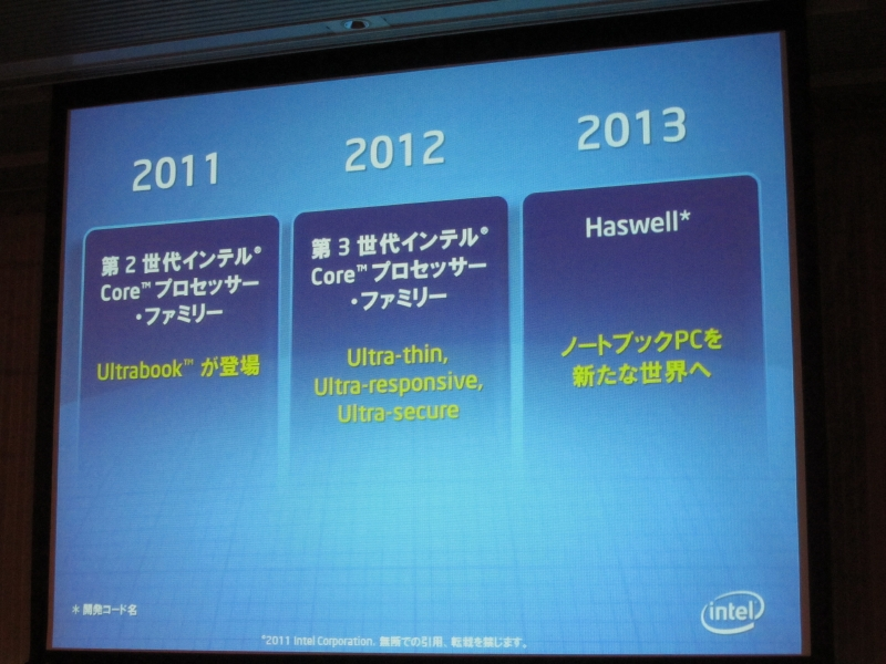 Ultrabookの進化の継続