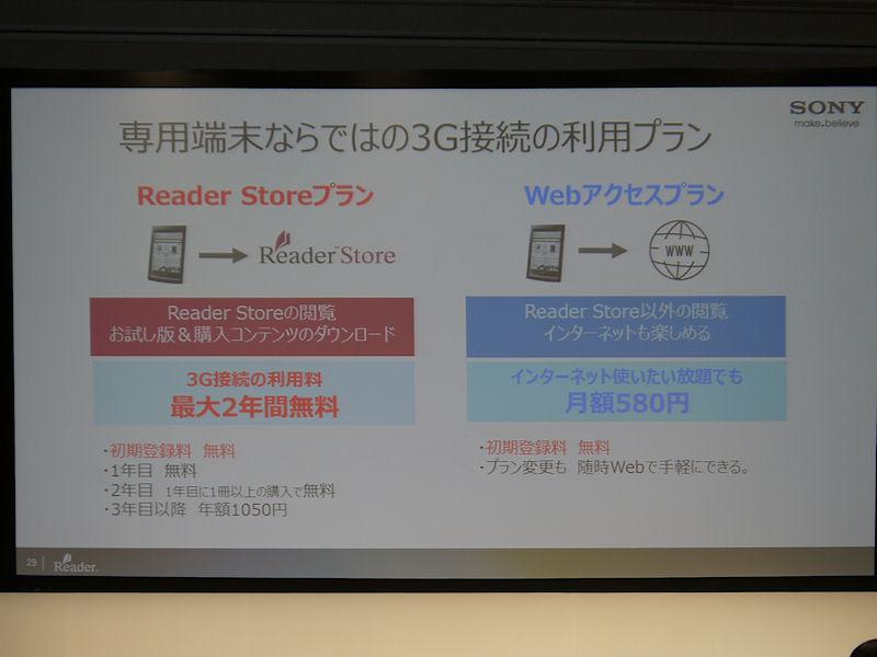 3Gには2種類のプランが用意される