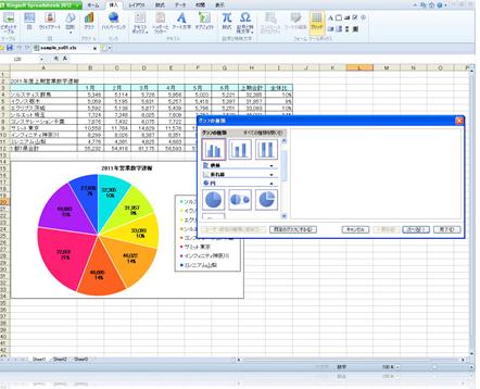 "<div align=""left""> KINGSOFT Office 2012 Standard           <br>         </div>(Spreadsheetの画面イメージ)"