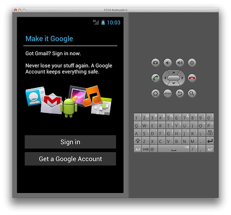 Google各種サービスへのSign in画面