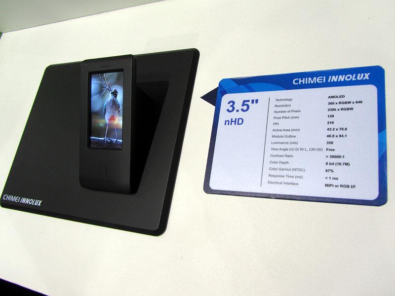 CMIの3.5型AMOLEDディスプレイ