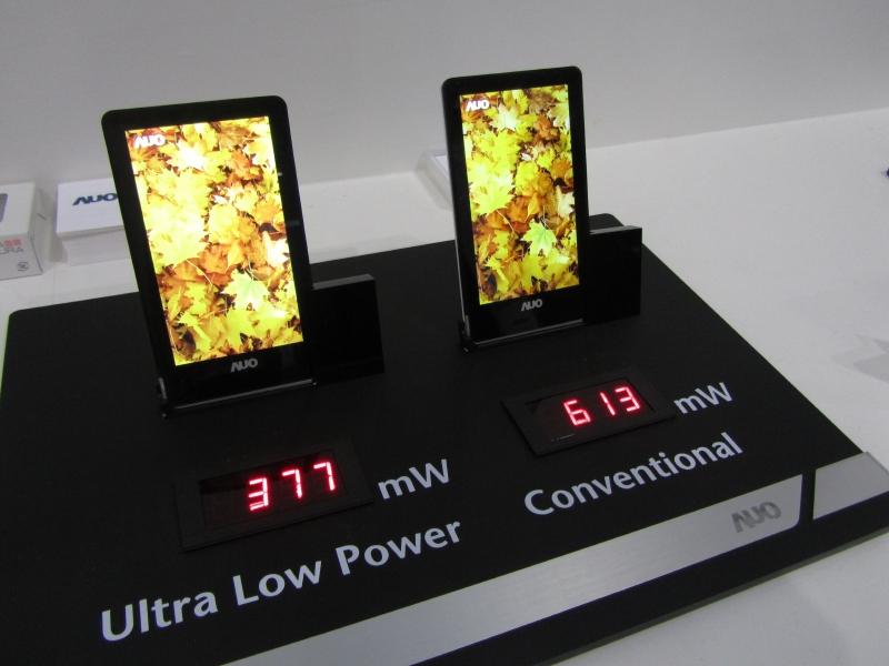 AMOLEDと比較して消費電力が低いAH-IPS