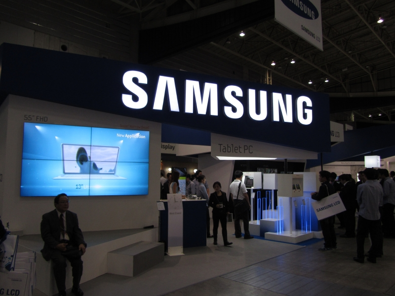 Samsungのブース