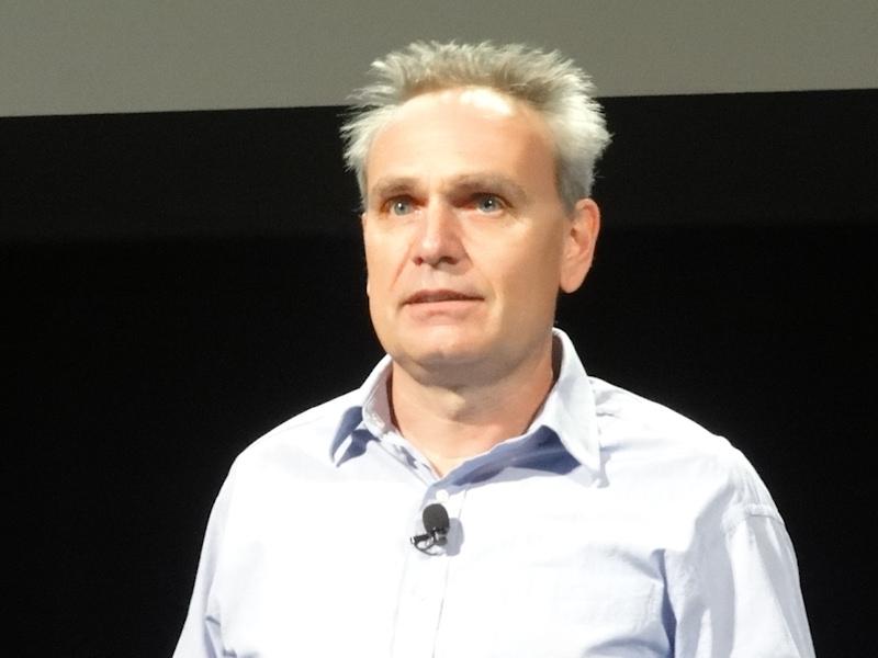 AcerCloudの説明を行なったAcer Cloud Technology担当ジェネラルマネージャのJohn Princen氏