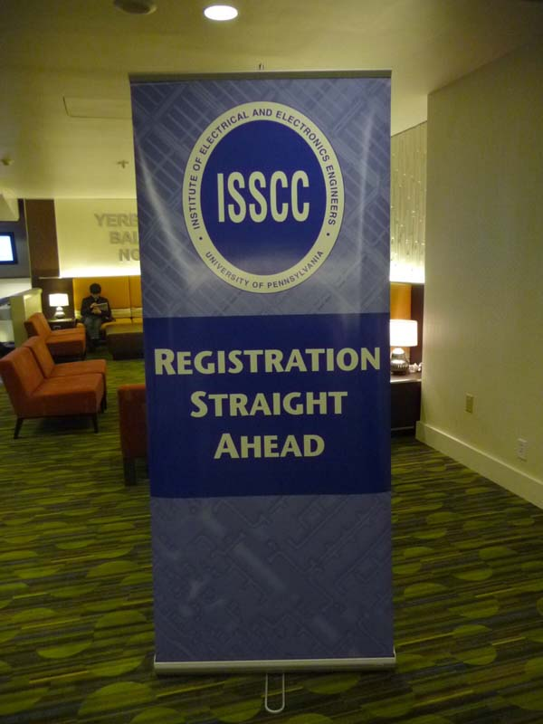 ISSCC会場ホテルの案内幕
