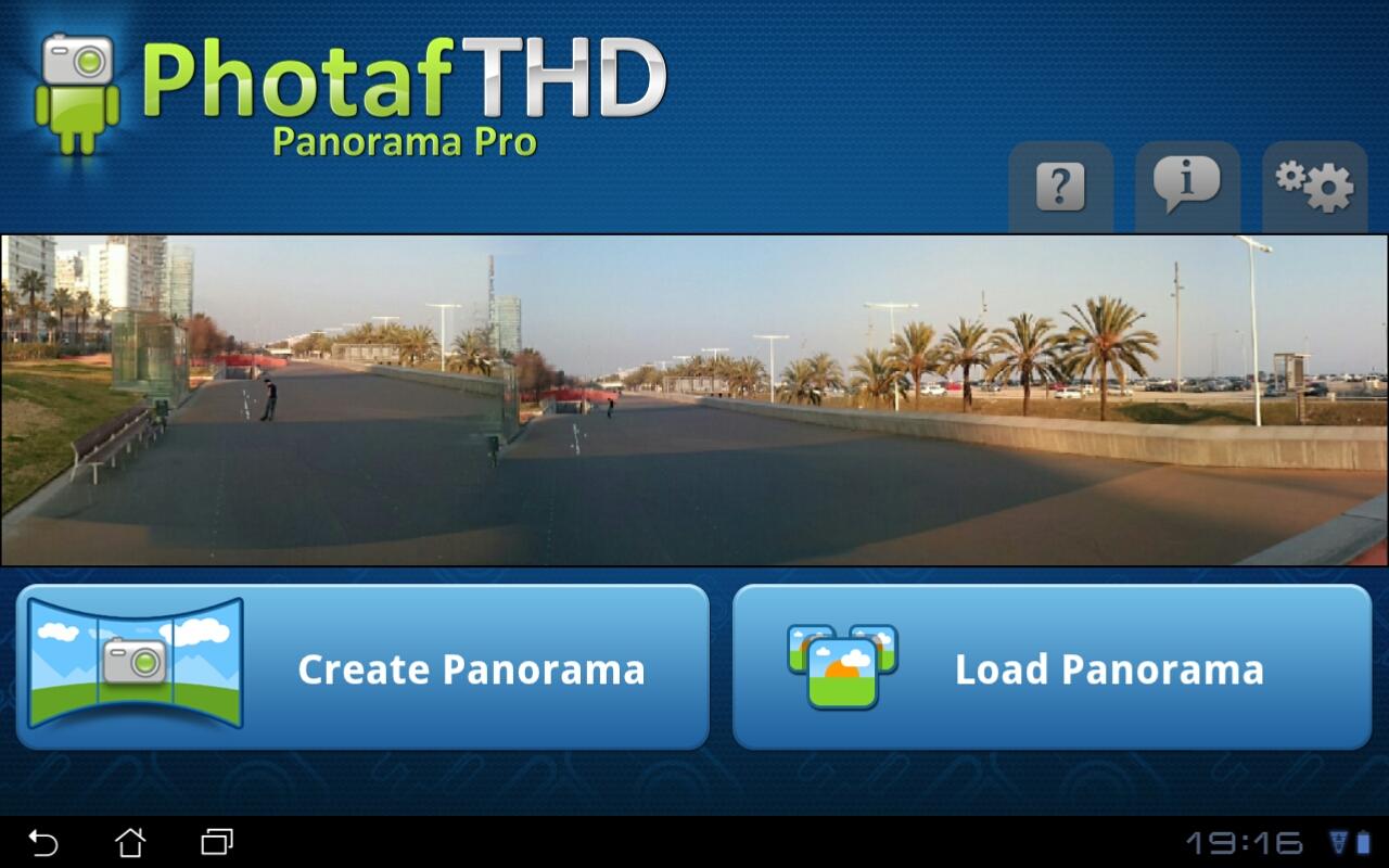 Photaf THDの画面。ガイドに従って撮影した写真を元に解析してパノラマ写真をレンダリングして作成する。マルチスレッドに最適化された処理が可能