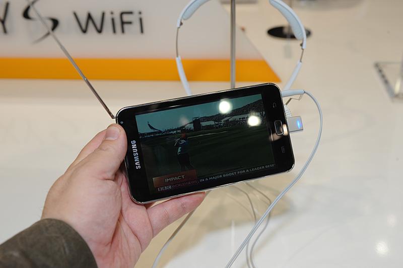 「Galaxy S Wi-Fi 5.0」は欧州エリアのワンセグ放送に相当するDMB/DAB+にも対応