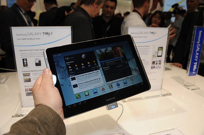 Android 4.0(Ice Cream Sandwitch)を搭載する10.1型の「Galaxy Tab 2 10.1」