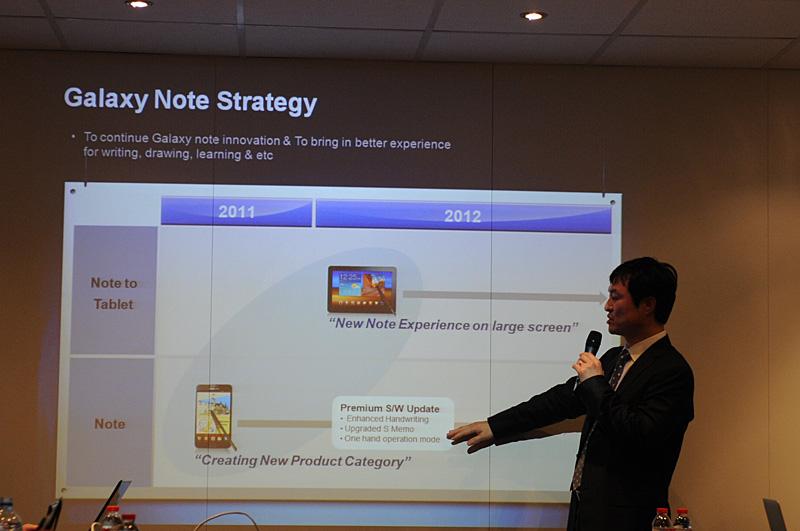 Noteカテゴリ第2の製品である10.1型は2012年の第1四半期中に発売される見通し。同時期に既存の5.3型に向けたアップグレードも計画されている