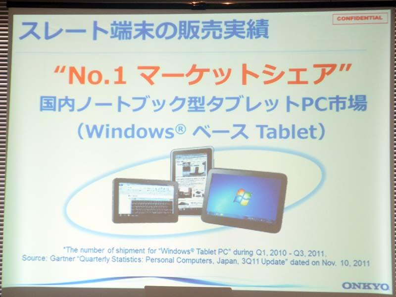 WindowsスレートPCで国内シェア1位
