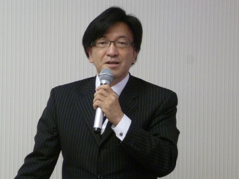SmartVision全体の解説を行なった商品開発本部本部長 小野寺忠司氏