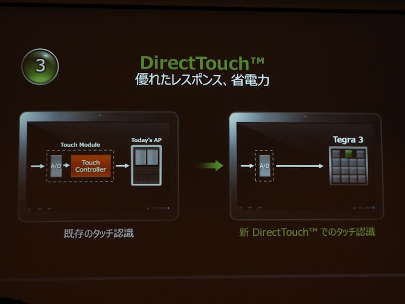 Tegra 3はタッチ認識もCPUで行なう