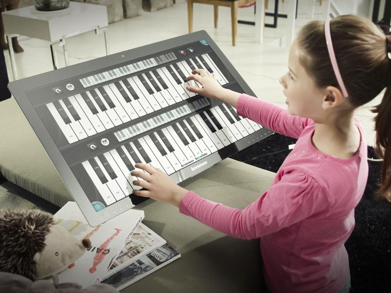 タッチ電子ピアノのイメージ