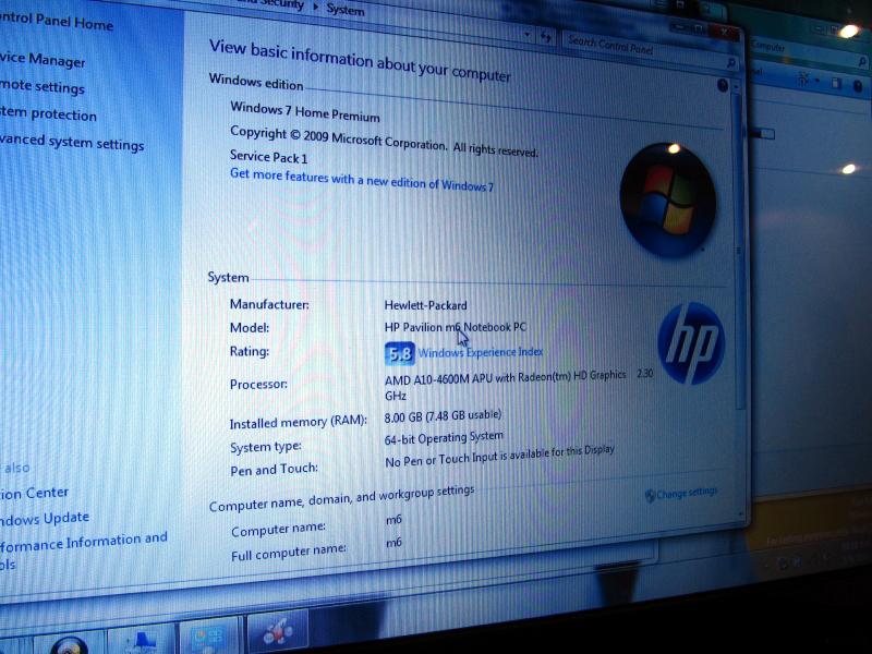 HP Pavilion m6 Notebook PCに搭載されるTrinity APU