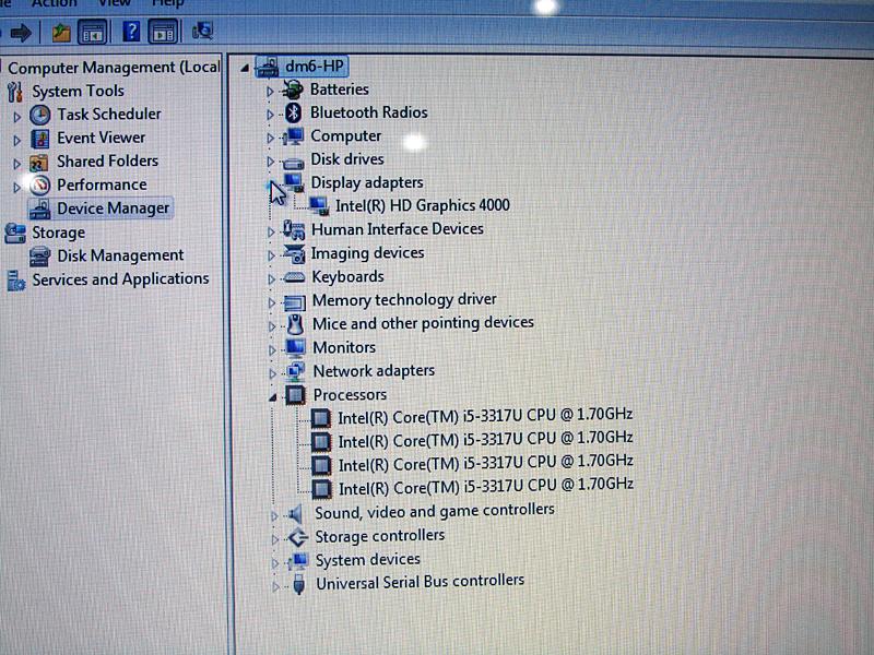 デバイスマネージャーで見たCPUモデルナンバー