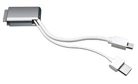 付属のMini DisplayPortケーブル