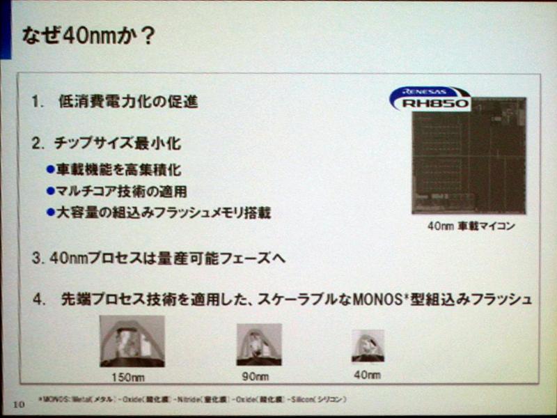 40nmプロセスの特徴