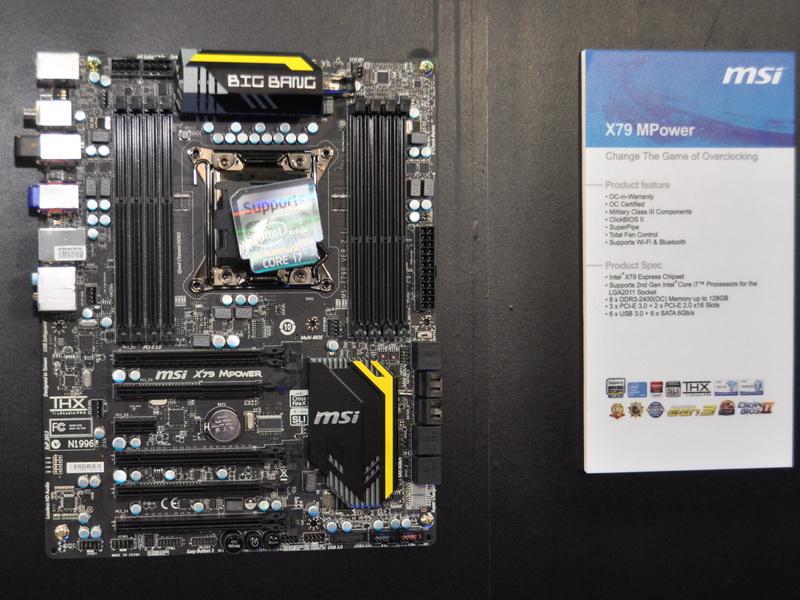 「Big Bang-XPower II」の下位に位置付けられる、Intel X79 Express搭載マザーボード「X79 MPower」