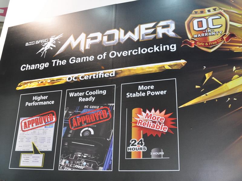 Big Bang MPowerシリーズは、オーバークロックによるダメージに対する保証が用意されている