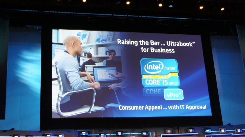 第3世代Coreプロセッサ・ファミリーではUltrabookにvPro対応版も追加される