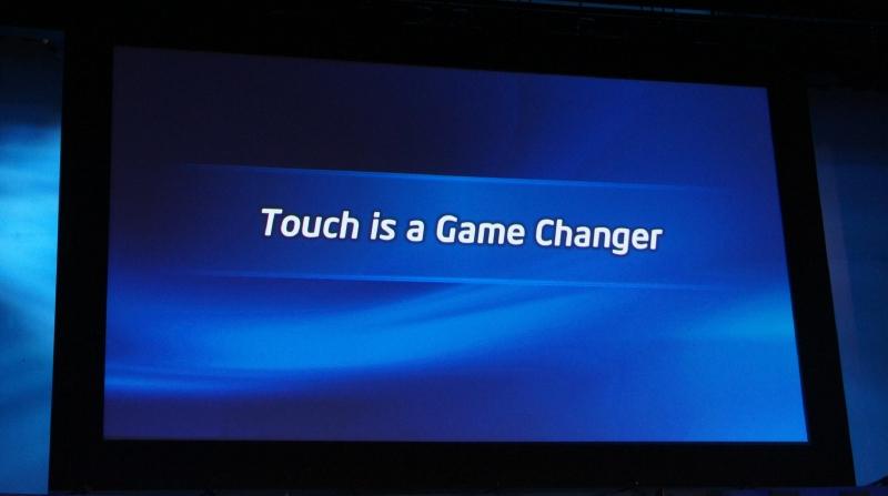 タッチ機能は、ゲームのルールを変えるほど衝撃があるものだという