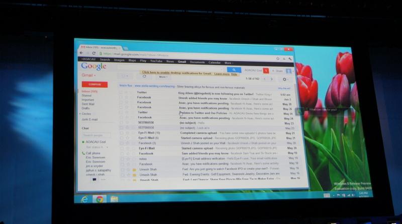 音声認識のデモでは、音声コマンドを利用してG-Mailを送信したりする様子が公開された