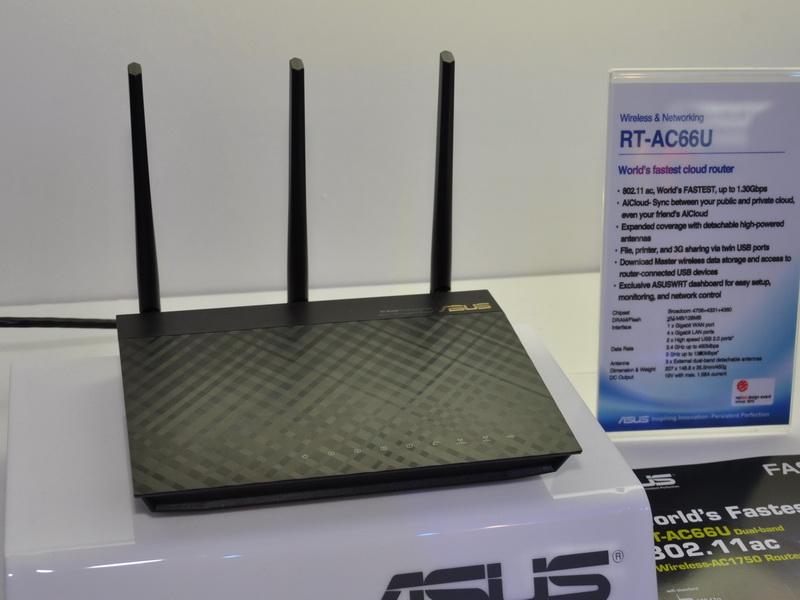ASUSのIEEE 802.11ac対応無線LANルーター「RT-AC66U」