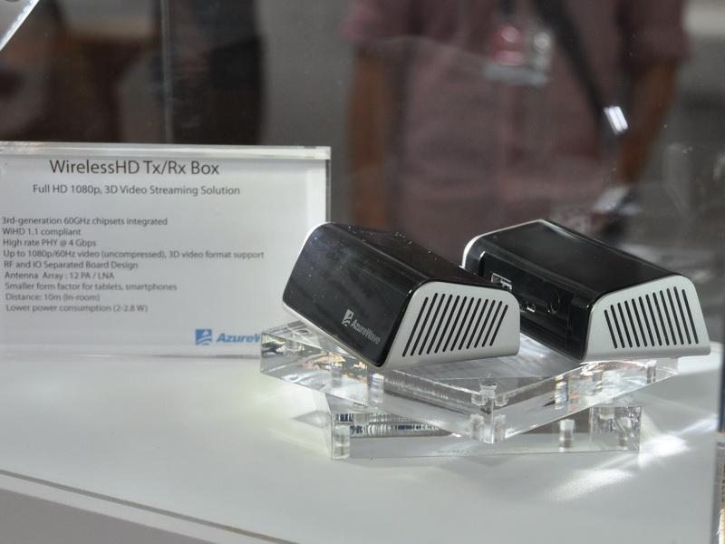 60Hz、1080pの無圧縮映像信号を遅延なく転送できる、WiHD対応ワイヤレス動画転送システム。送信用と受信用のモジュールがセットとなる。伝送速度は最大4Gbpsで最大伝送距離は10m